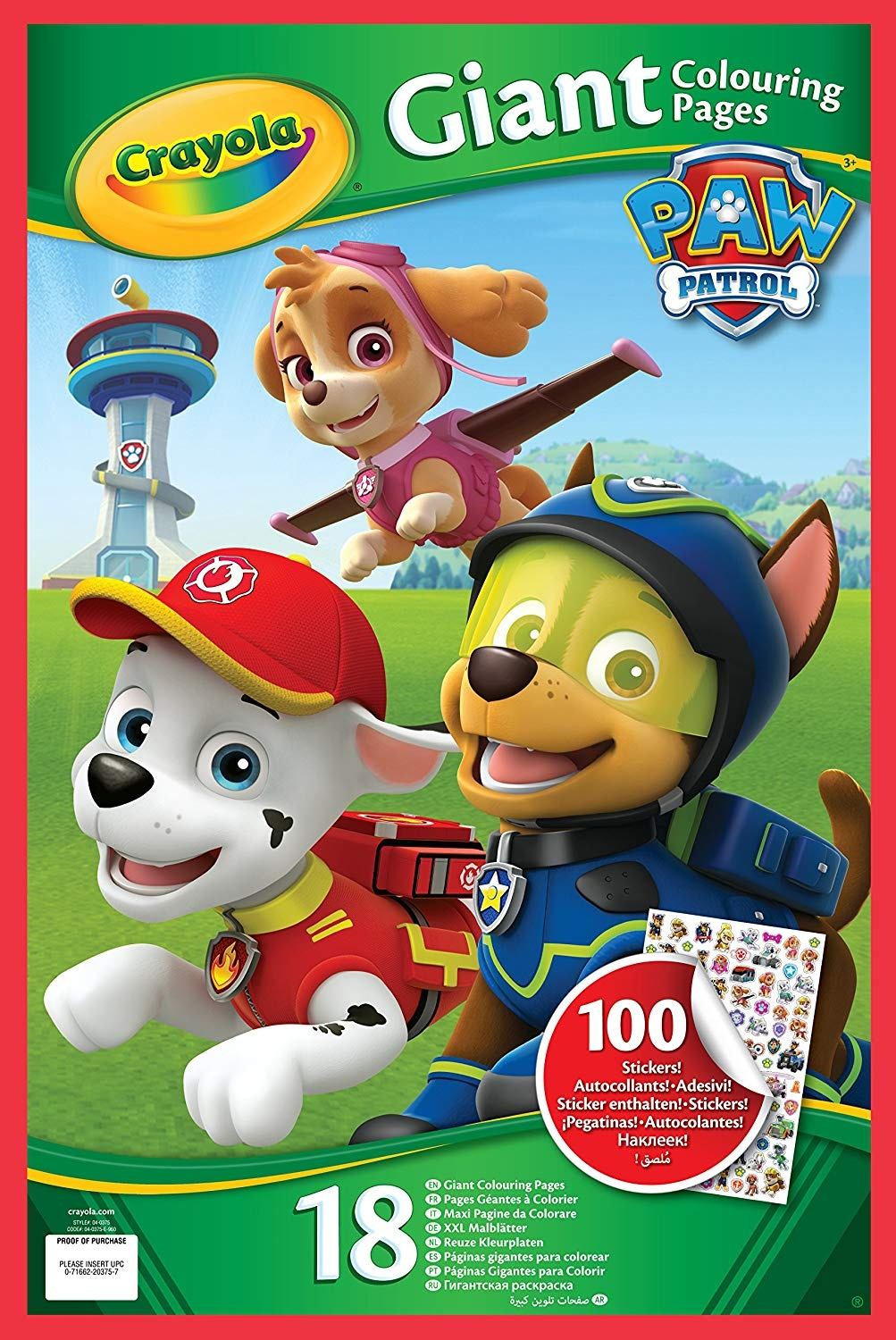 Crayola Jumbo Paw Patrol Page Colouring Book With Stickers 04 0375 E 000
