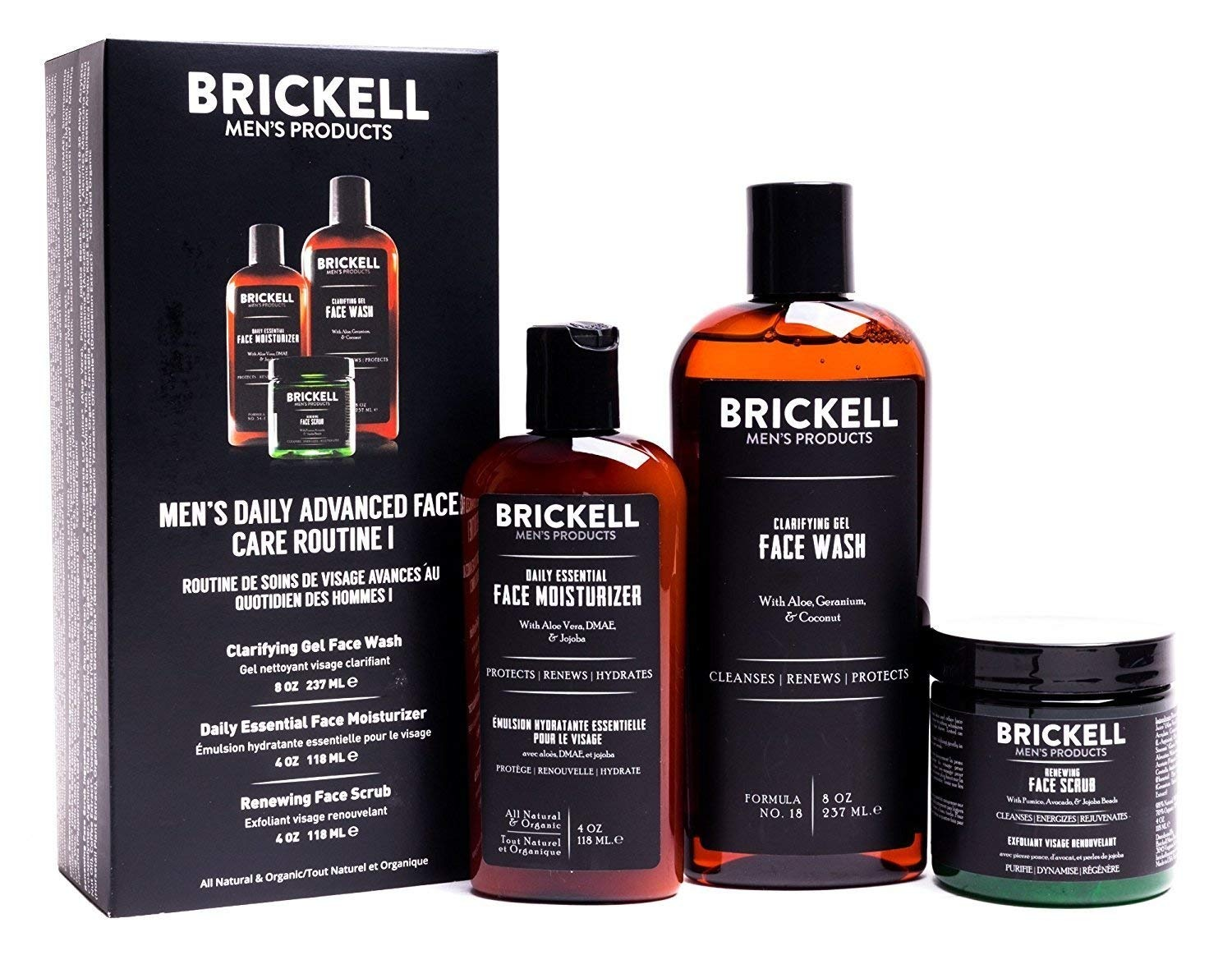 Brickell Men S Daily Advanced Face Care Routine I Gel Facial