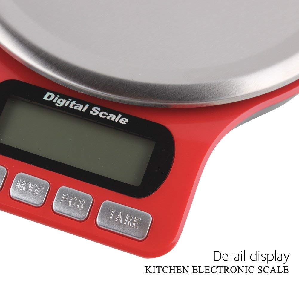 8f69c59c756f Digital Food Scale and Multifunction Kitchen Weight Scale, High-precision  stainless steel Jewel scales with 7 units of measurement, Accurate weight