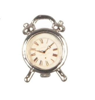 Dollhouse Silver Alarm Clock