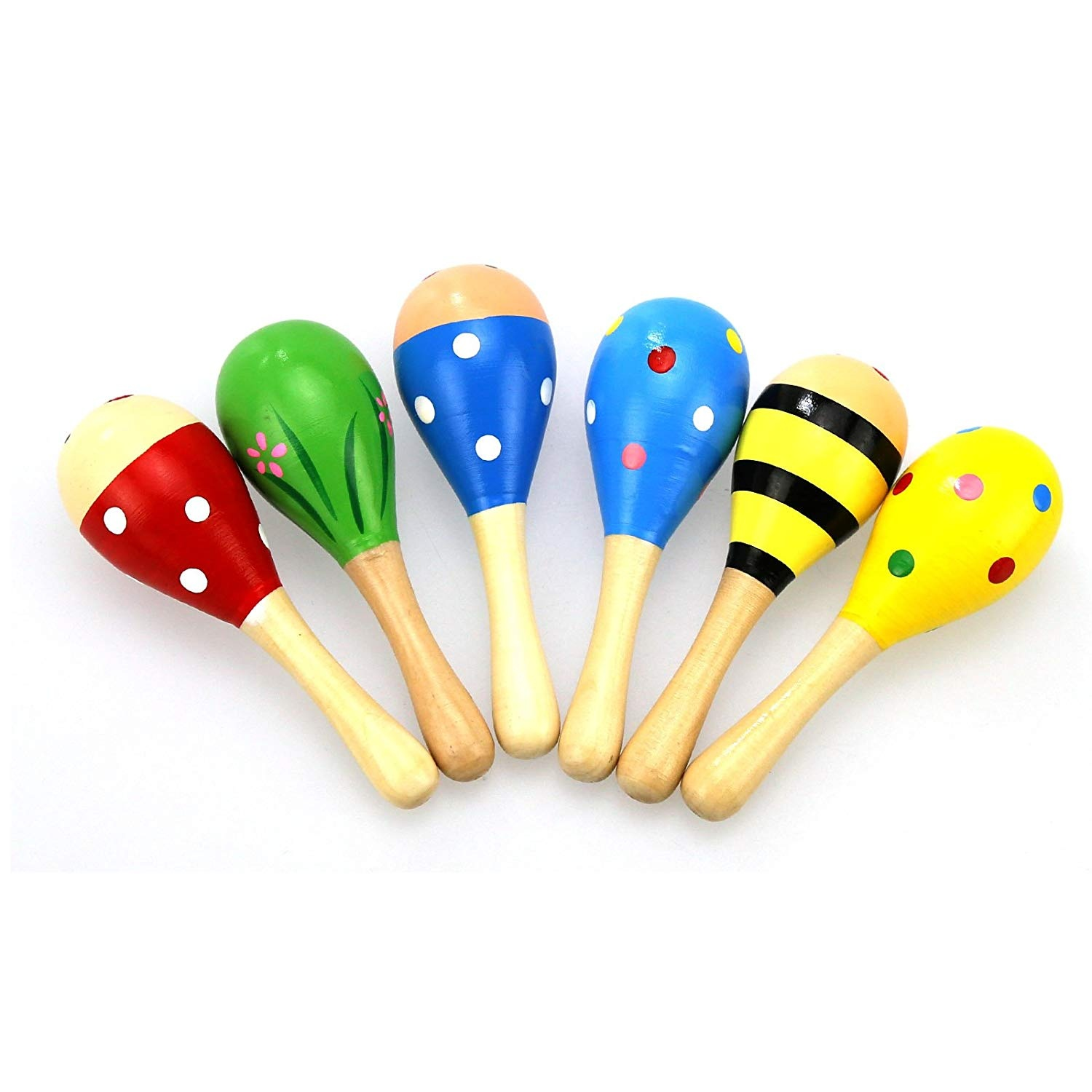 Kids Baby Wooden Toy Maracas Rumba Shakers Musical Party Rattles Hot NZ