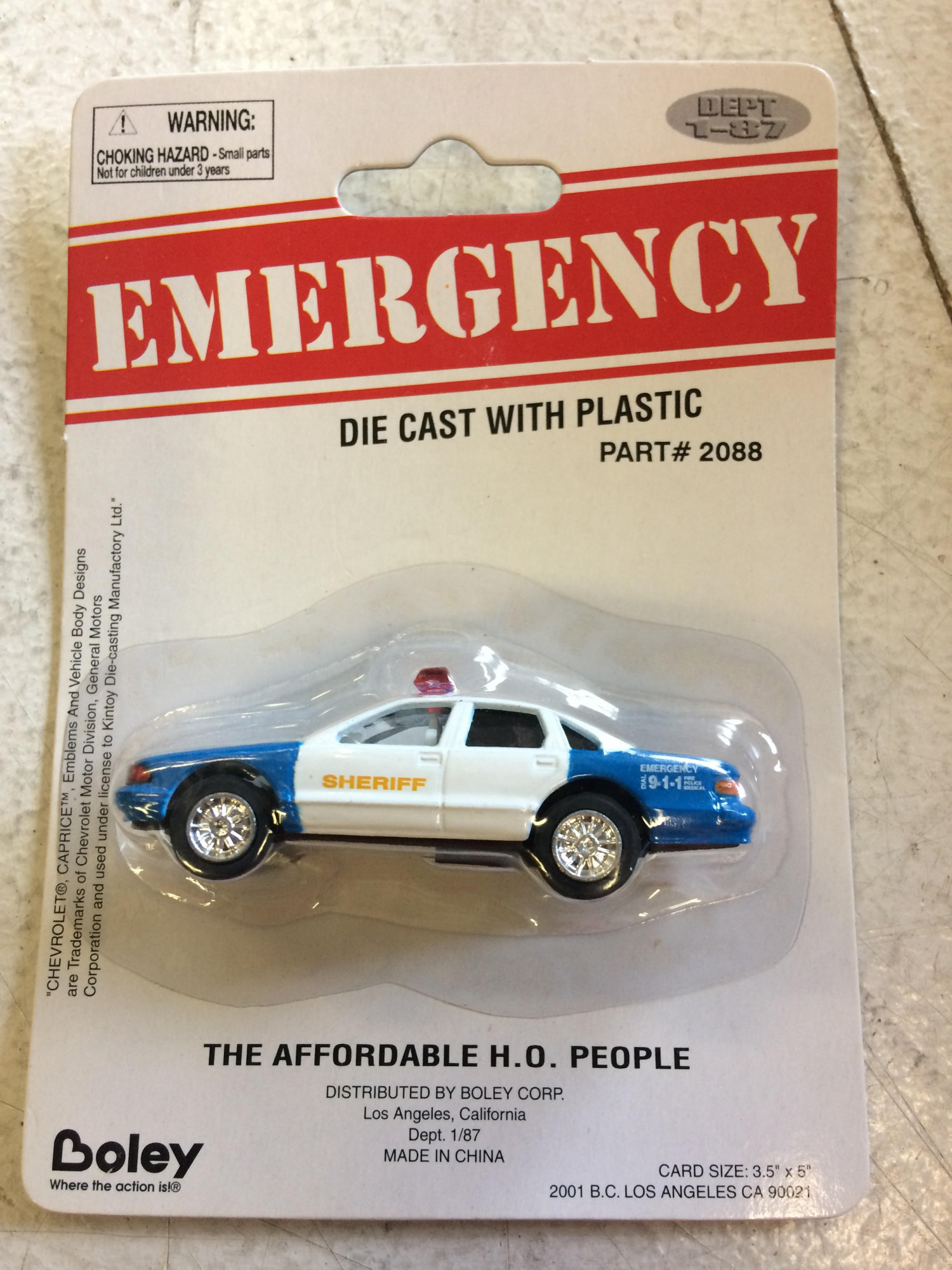 Boley 2088 1:87 Police Car Generic