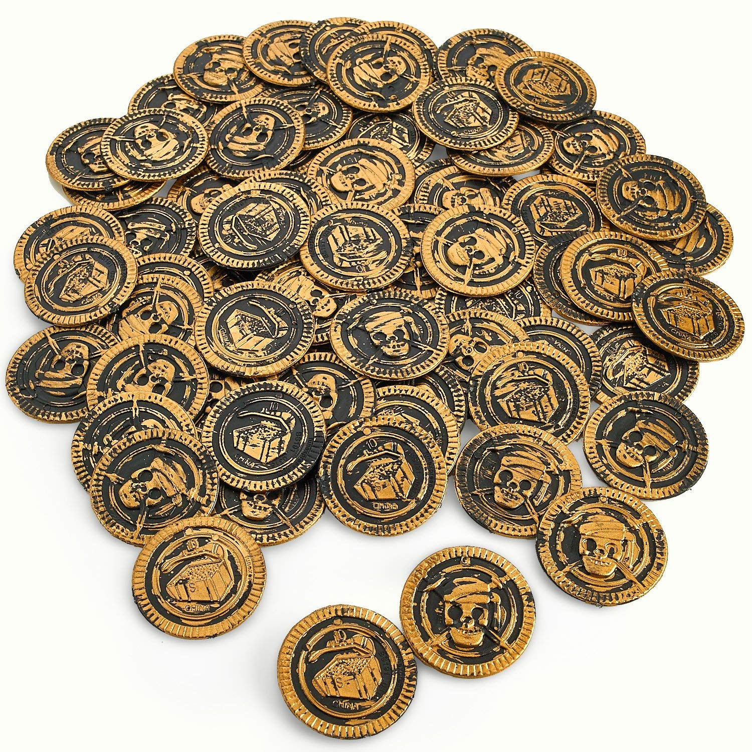 Pirate Coins Pirates Treasure Coins - 72 Pack Plastic, Each