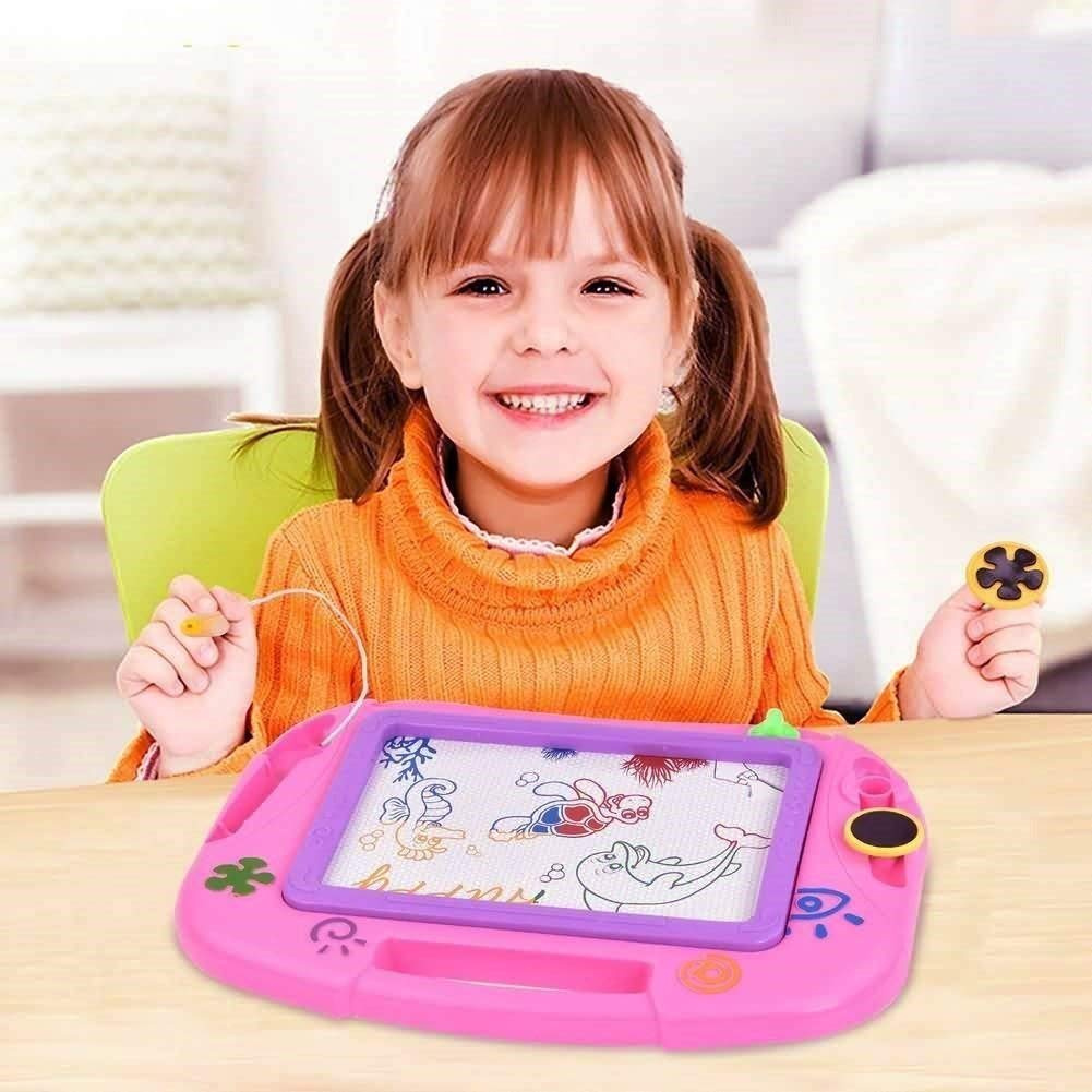 Erasable Colorful Magnetic Drawing Board for Kids Writing Sketching Pad Gift New