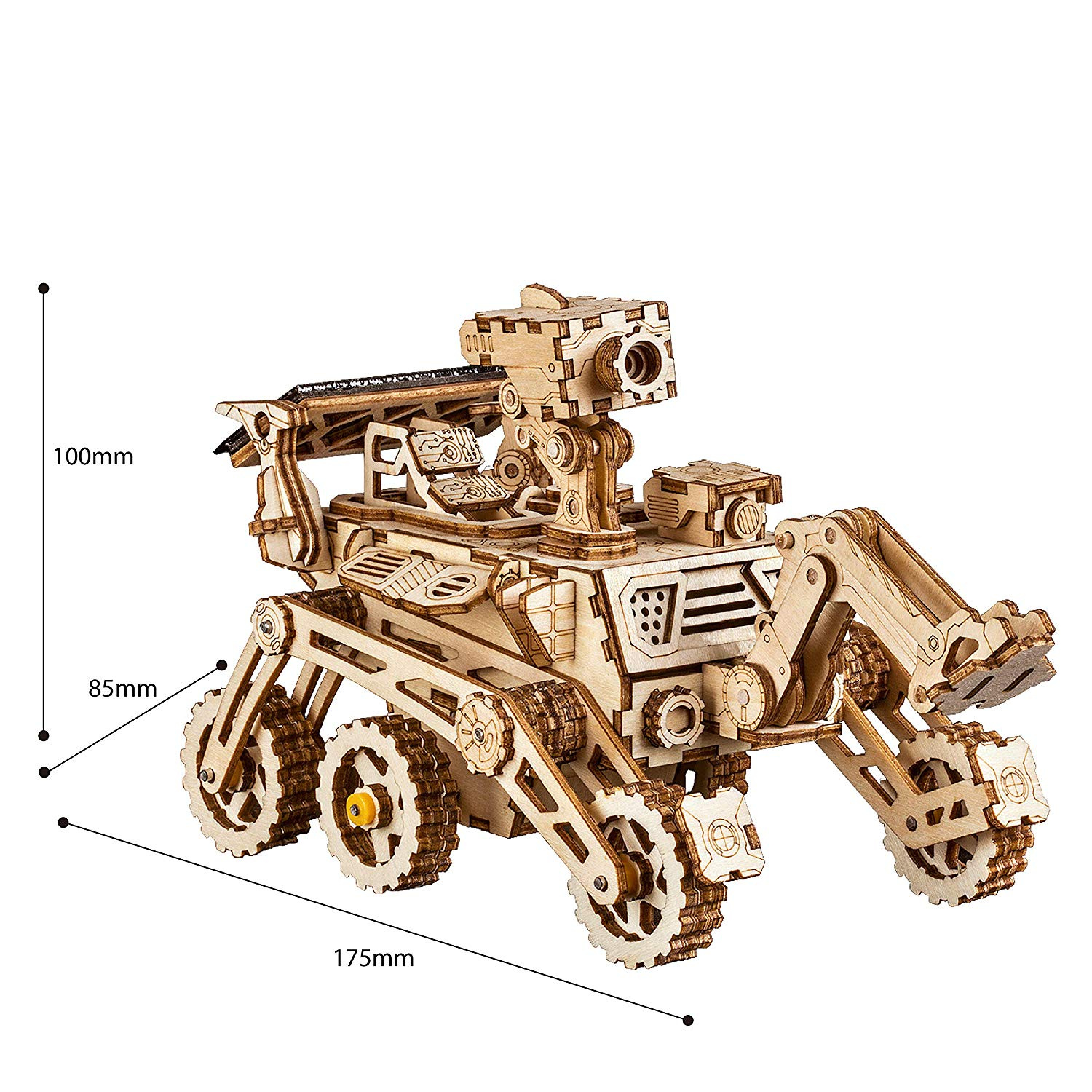 ROKR Mechanical Models,3-D Wooden Puzzle,Solar Energy Powered Cars-Moveable  DIY Assembly Toy,Mechanical Gears Constructor Kits,Brain Teaser,Best Gifts