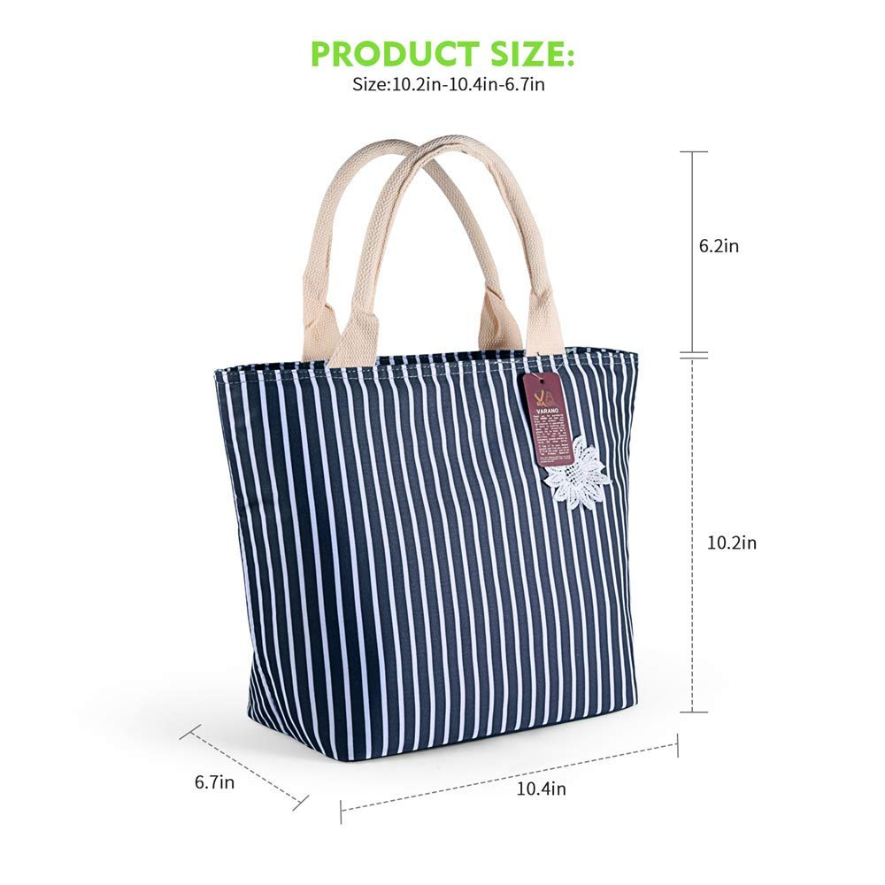 c5cc25bfd625 VARANO Insulated Lunch Box - Lunch Bag for Women and Girls/Large Capacity  Adults Reusable Lunch Tote Cooler Organiser Bag