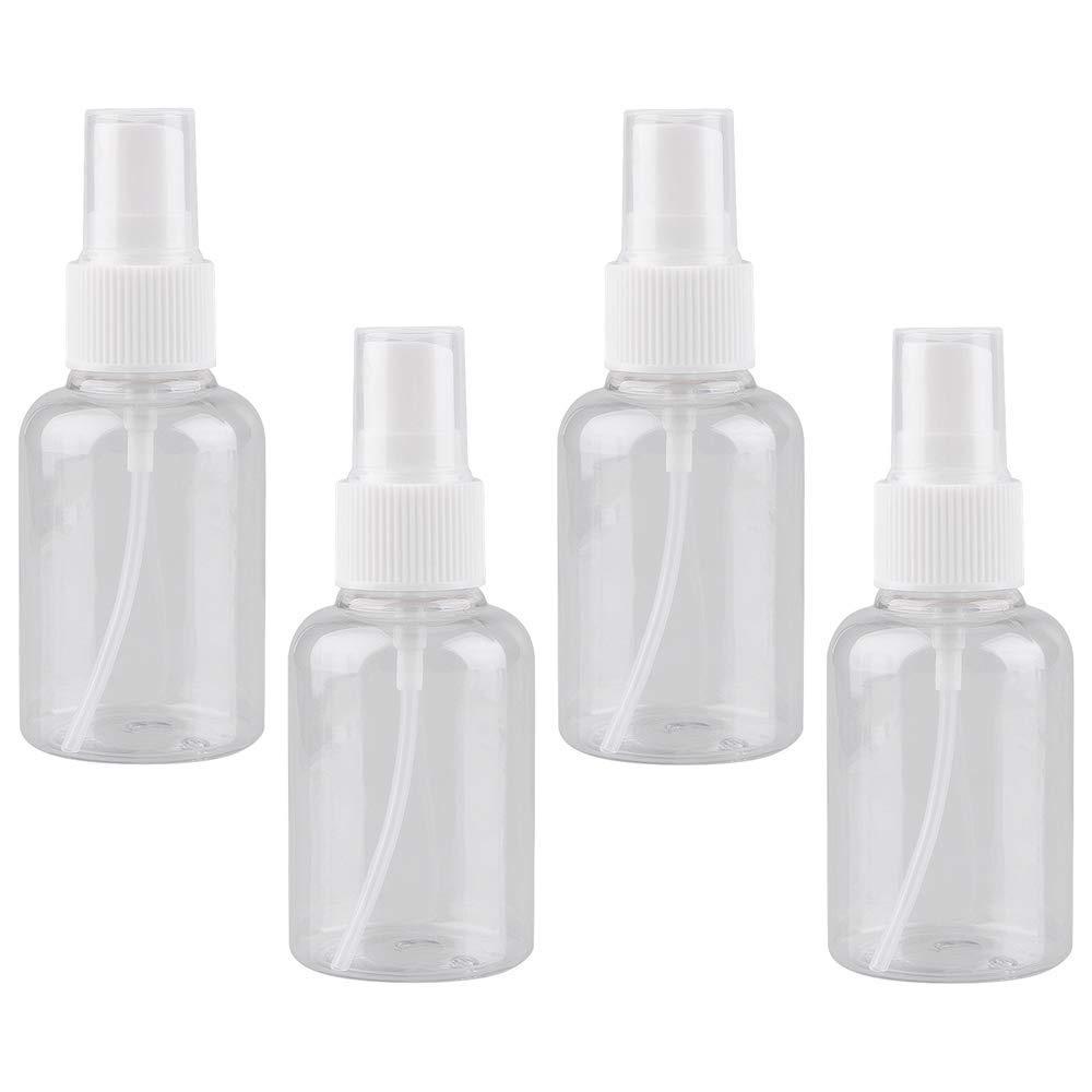 e164adecea52 4 Pcs 50ML Spray Bottle Transparent Empty Spray Bottles Cosmetic Spray  Bottles Travel Small Bottles PET Spray Bottles Pump