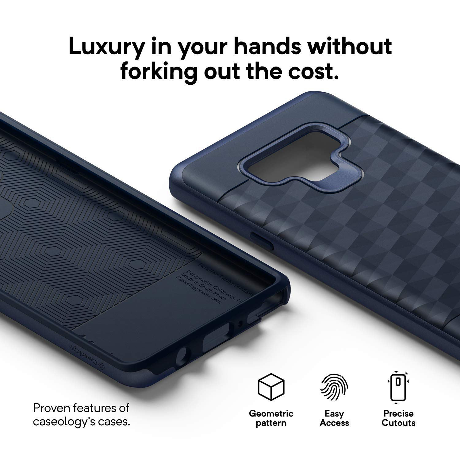 brand new 5c765 f8968 Caseology Parallax Series Case for Galaxy Note 9 - Slim Protective Secure  Grip with Geometric Design Case for Samsung Galaxy Note 9 (2018) - Ocean ...