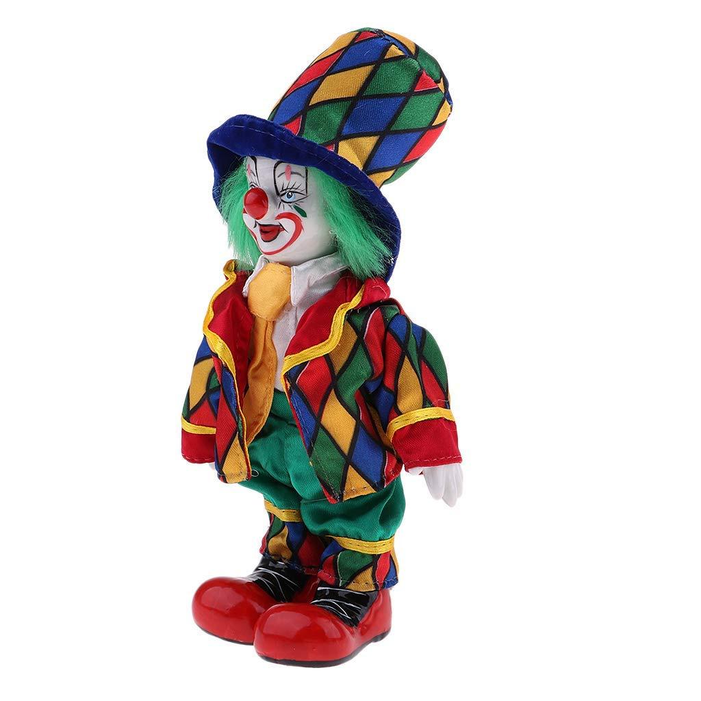 Fashion Dolls P Prettyia Vintage Porcelain Clown Doll Figurine with