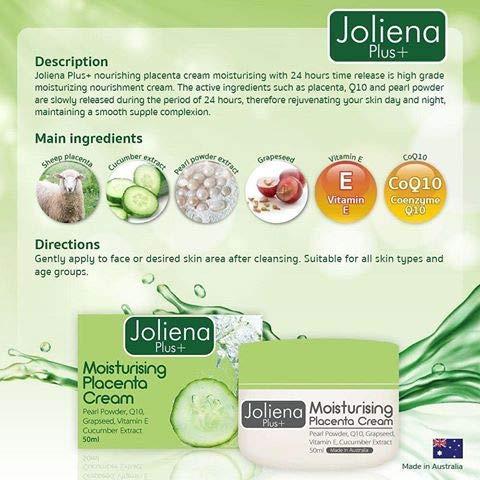 2 UNITS OF JOLIENA PLUS moisturiser PLACENTA CREAM 50ML