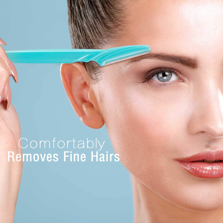 Hulless Eyebrow Razor Facial Razor 6pcs Eyebrow Shaper Trimmer For