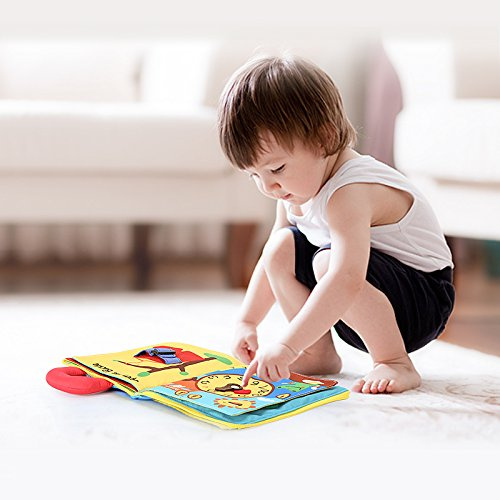 beiens Quiet Books Felt 9 Theme 3D Books Fabric Activity for Babies /Toddlers Learning to Sensory Book、Identify Skill Boys and Girls Busy Book Ultra Soft Baby books Touch and feel Cloth Book