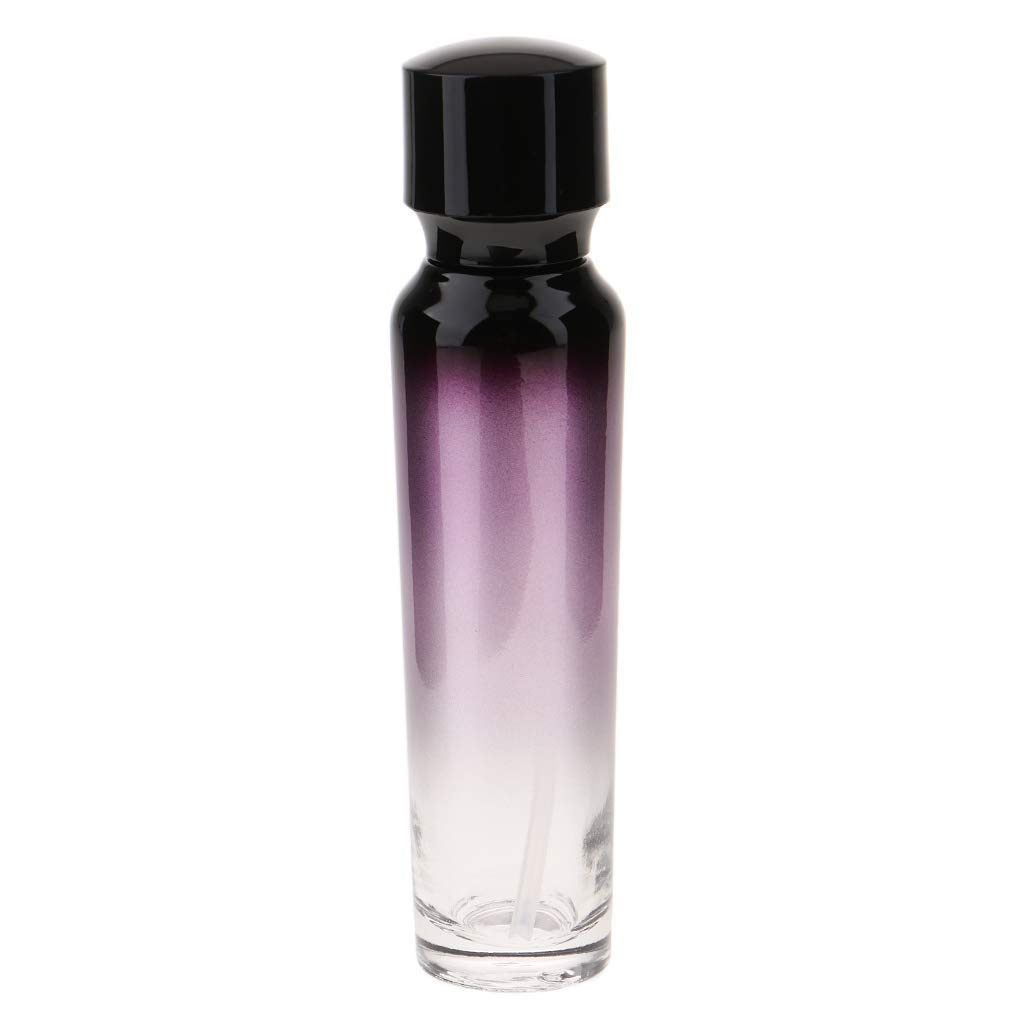 cd941f7a8305 SM SunniMix 55ml/100ml Purple Glass Travel Empty Bottle with Black  Treatment/Lotion Pump for Aromatherapy Lotions Beauty Gels Serums - 55ml