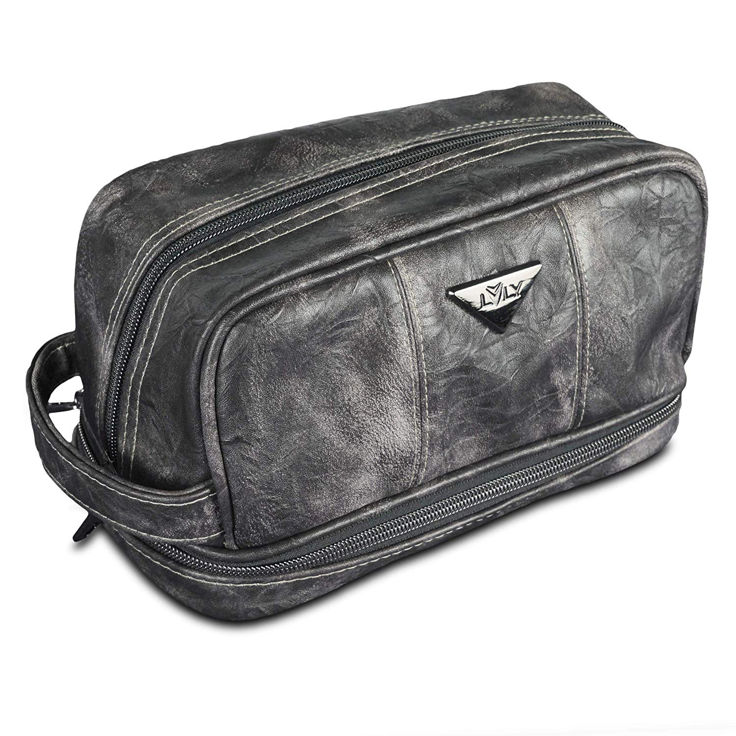 6bde2c84757e Leather Toiletry Bag for Men - Dopp Kit for Mens Toiletries by LVLY ...