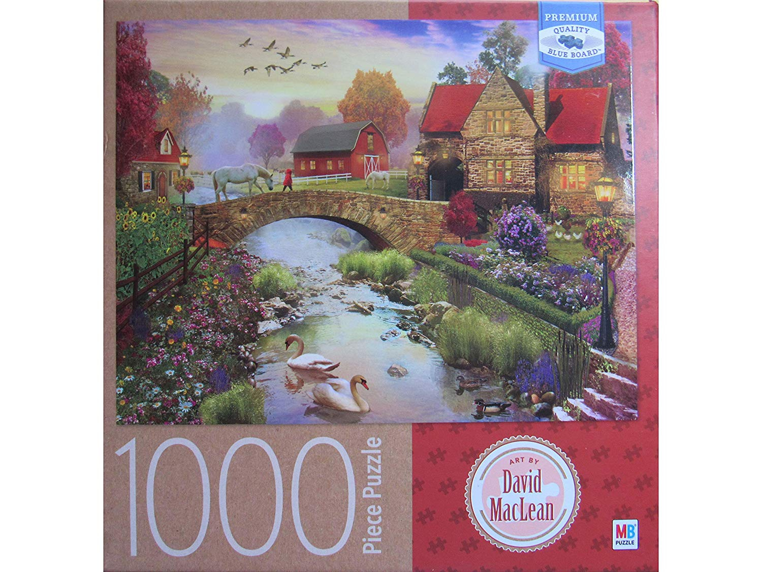 Homestead, by David MacLean 1000 Piece Puzzle by Milton ...