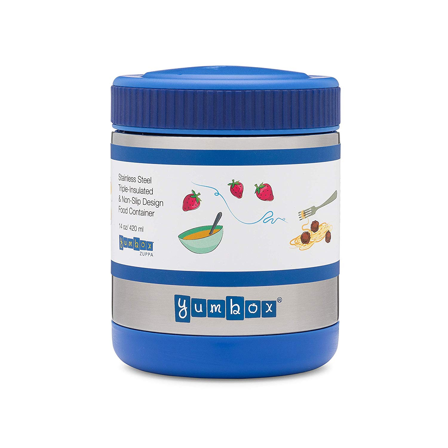 c21caf3936f5 YUMBOX Zuppa - Triple Insulated & Leakproof Thermal Food Jar (410ml or 1.75  cups) in Neptune Blue