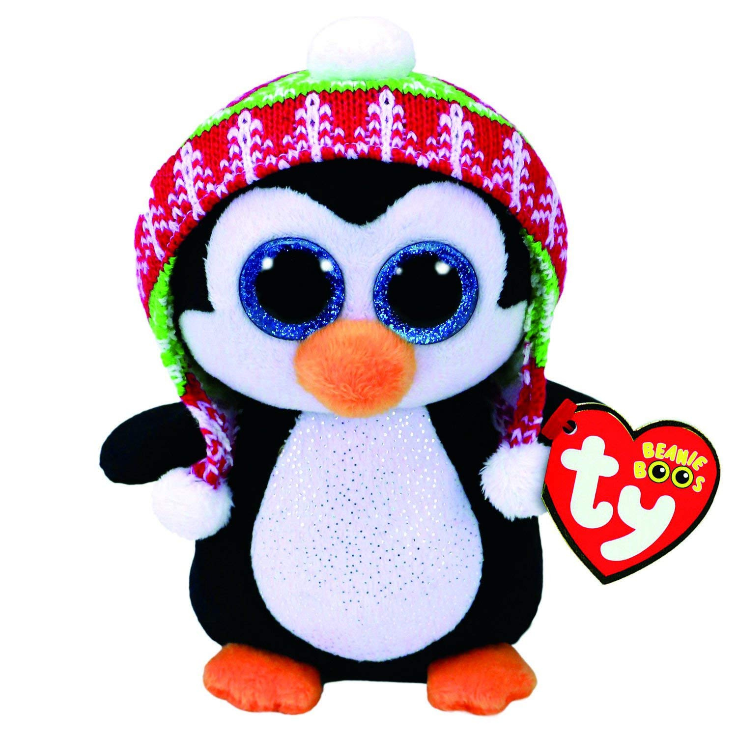 55121c4a2f7 Claire s Girl s TY Beanie Boo Penelope the Penguin Medium Plush Toy in  Black White by Ty - Shop Online for Toys in New Zealand