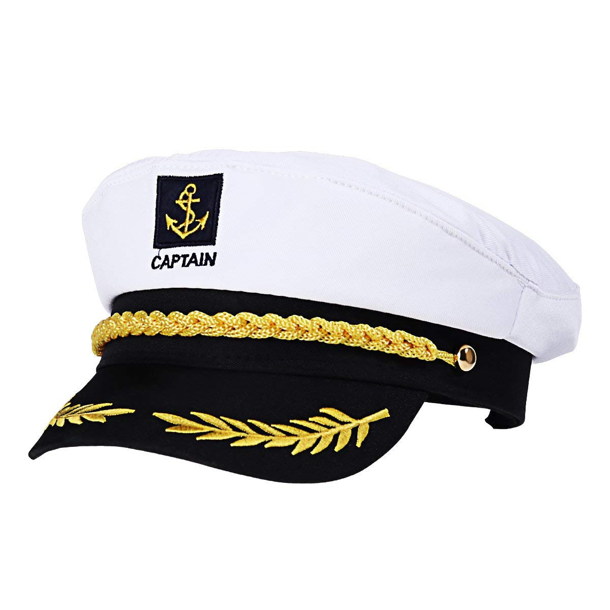94cc59df4fce3 BESTOYARD Sailor Captain Hat Cap Yacht Party Hats Navy Marine Adult Admiral  Sailor Costume Accessories(White) by BESTOYARD - Shop Online for Toys in  New ...