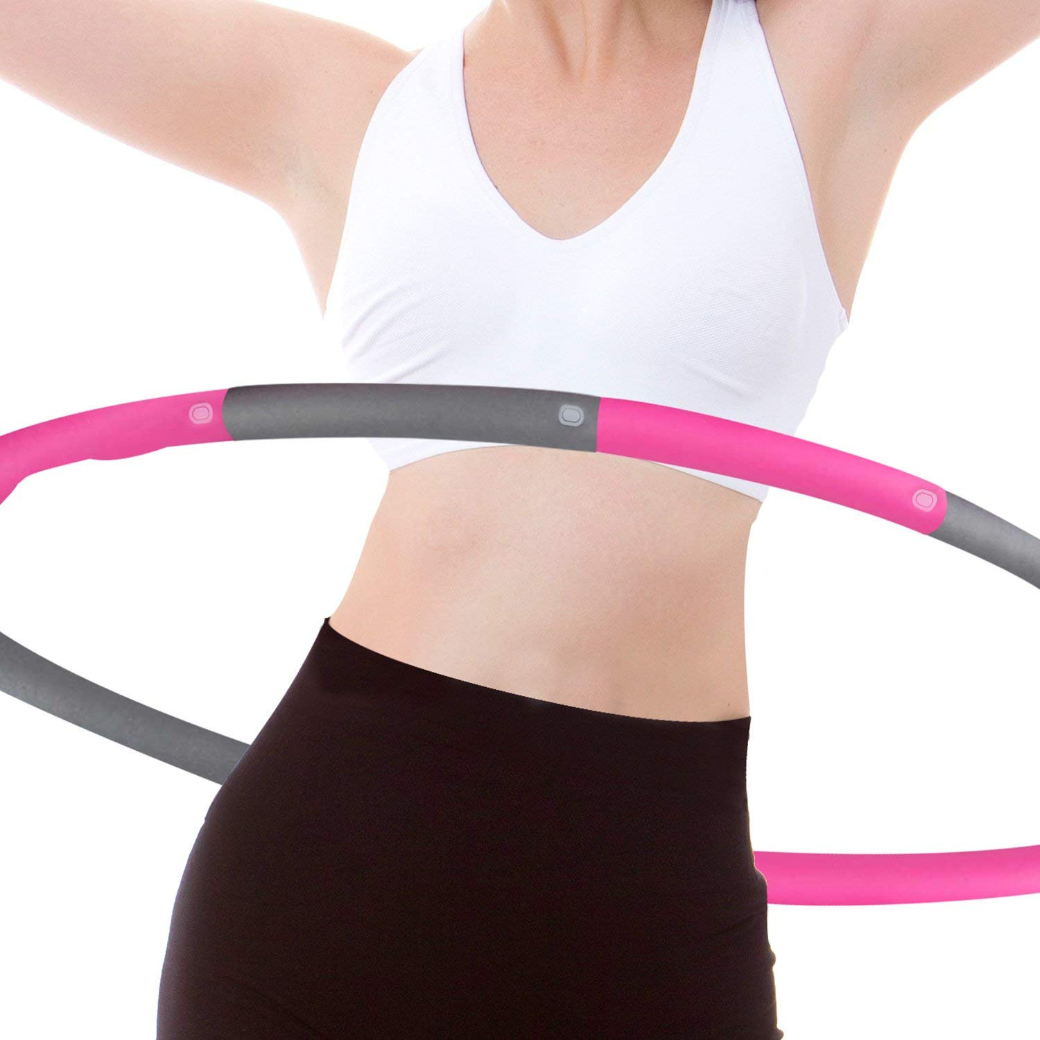 Professional Fitness Weighted Glow Hula Rings Dance Toy for Sports Playing Exercise Batteries Not Include Balai LED Sport Hoola Hoops for Kids Adults