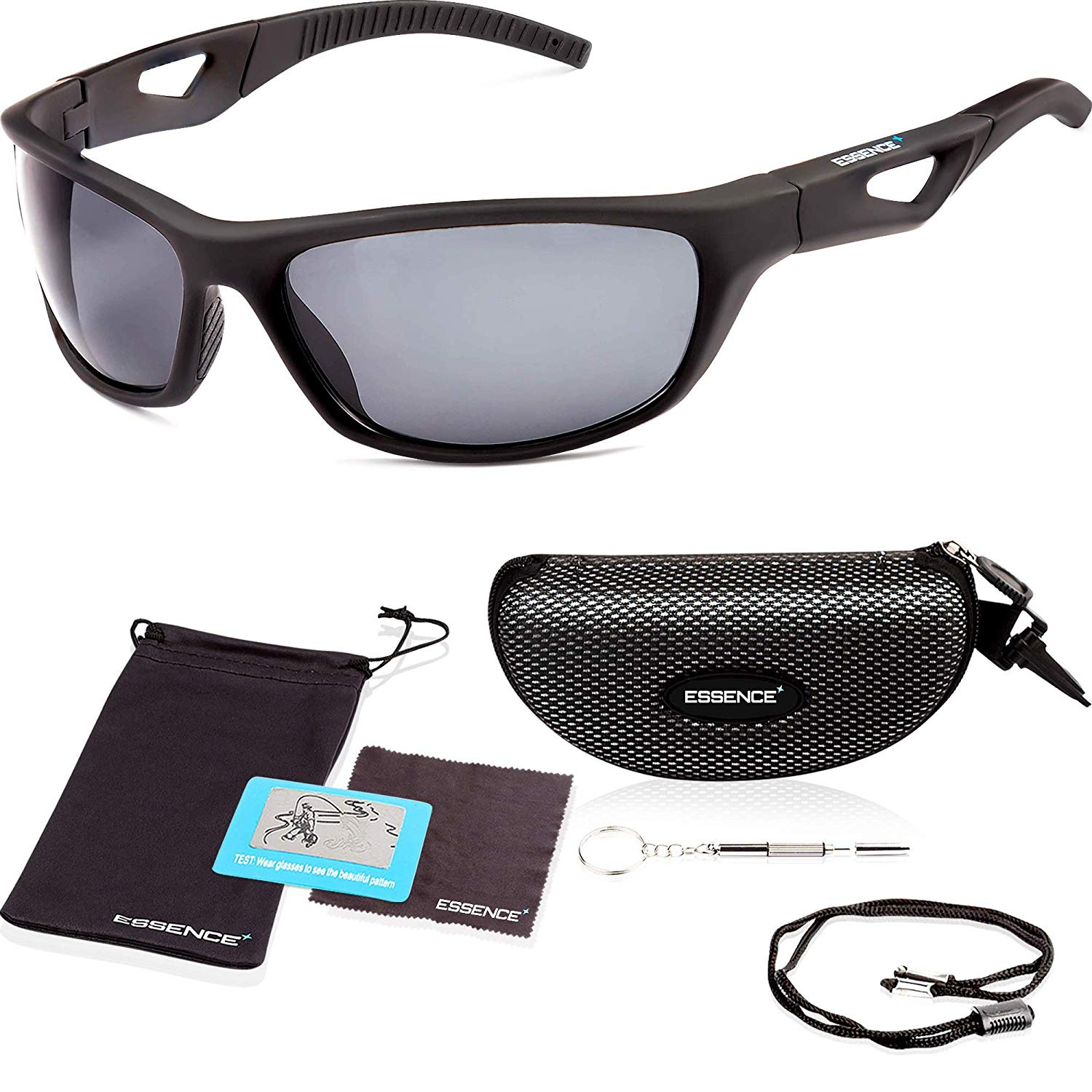 9b42e2397abc essence  Polarised Sunglasses for Men   Women – UV400 Eye Protection Glasses  – Also for Sports Cycling Day and Night Driving Running Skiing Fishing  Sailing ...