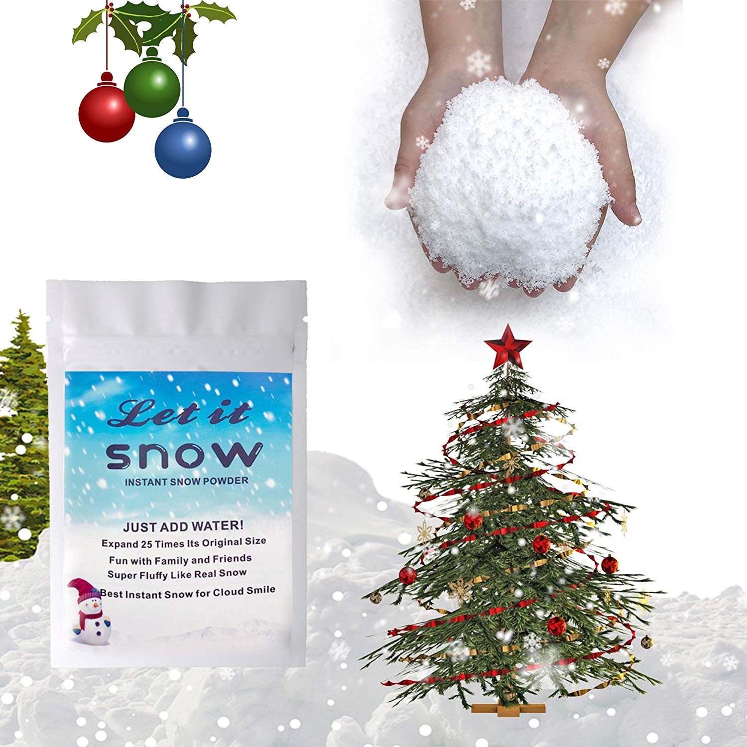 Snowy Instant Snow Fake Snow Fake Artificial Snow Great Making