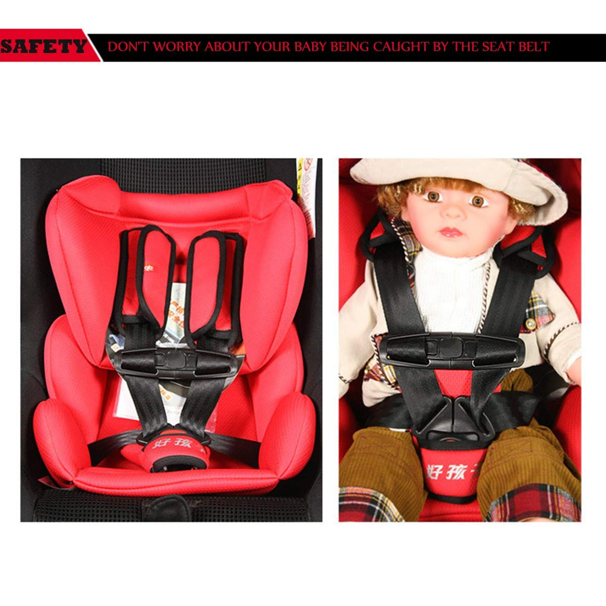 Baby Carriers Red Portable Baby Feeding Chair Belt Toddler Safety