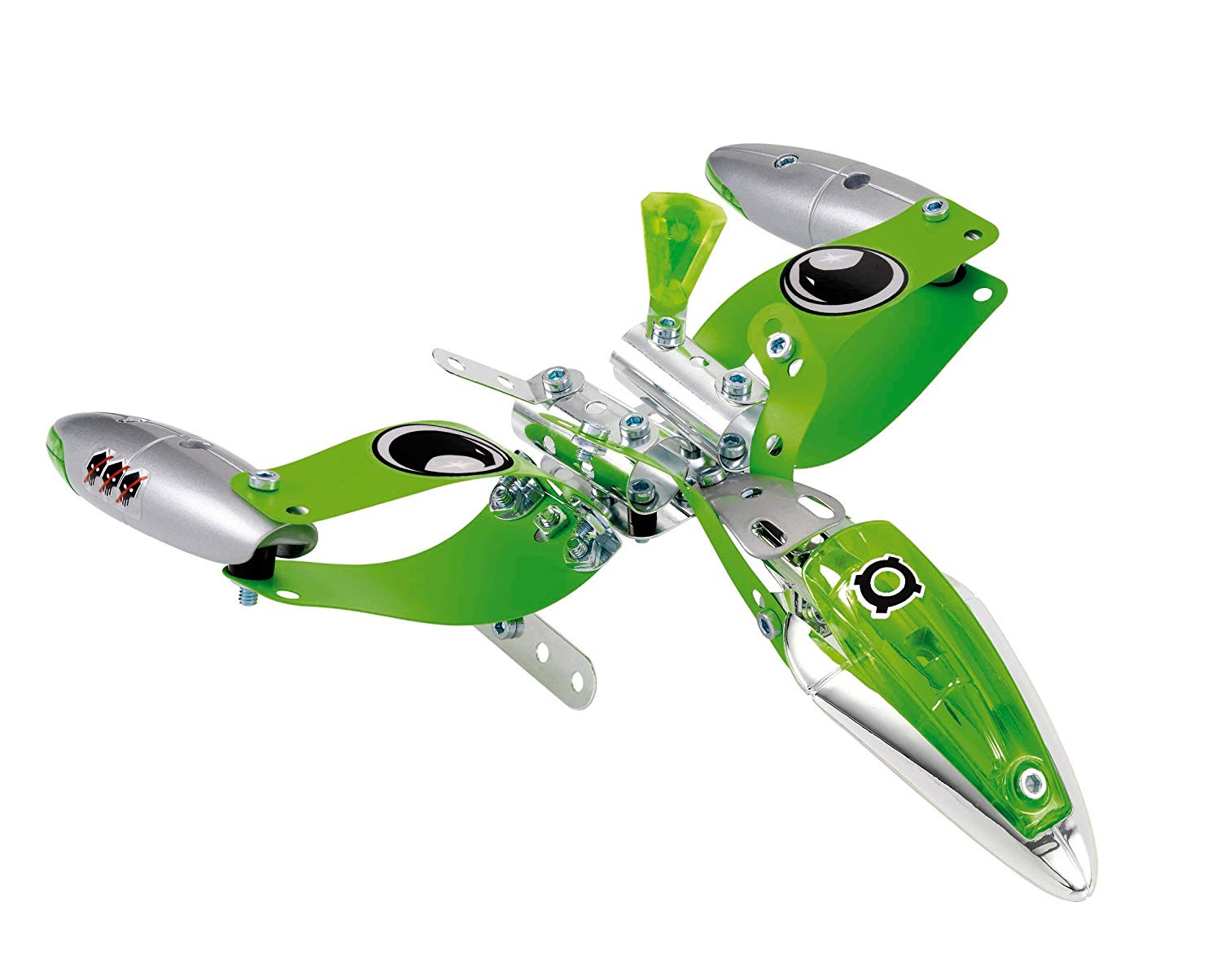 Meccano Space Chaos Silver Force Fighters Plane 805101