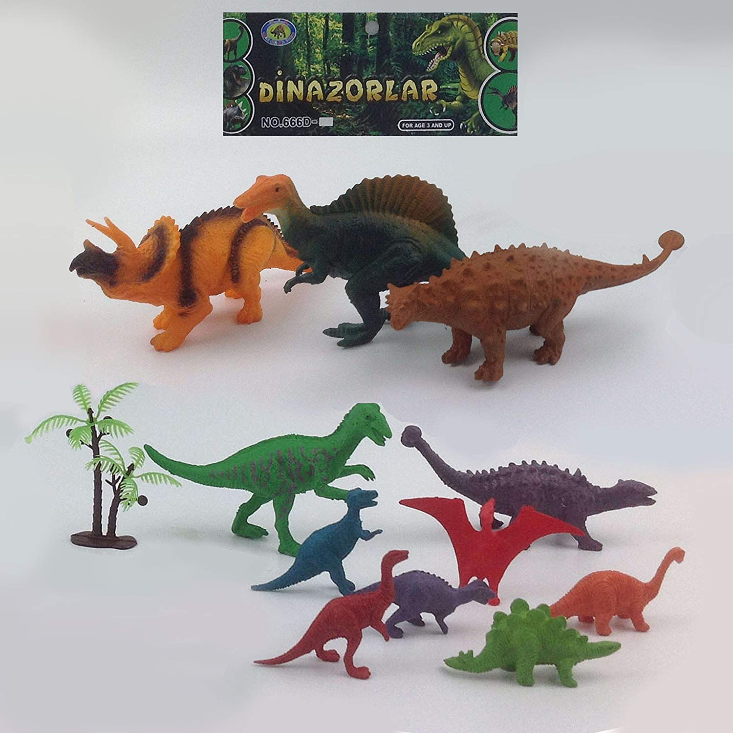 DINOSAUR TIME! Realistic Toy Dinosaur Figures For Cool Kids and Toddler  Education! (T-rex, triceratops, velociraptor, etc) 12 pcs