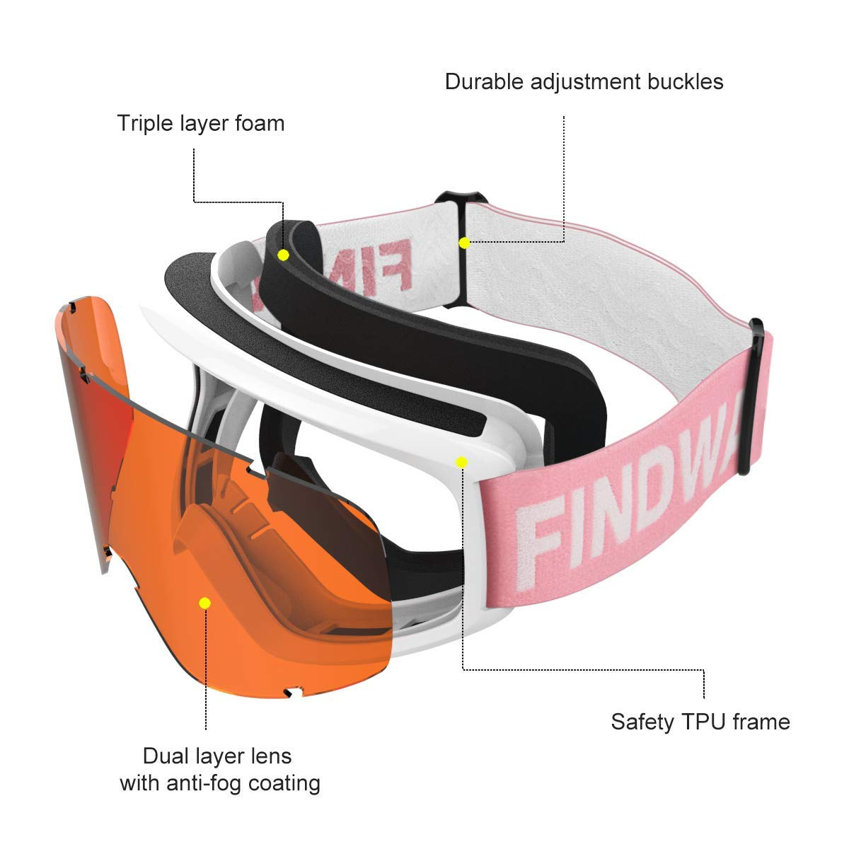 f4b975a316ac Ski Goggles Sports   Outdoors  Buy Online from Fishpond.com.hk