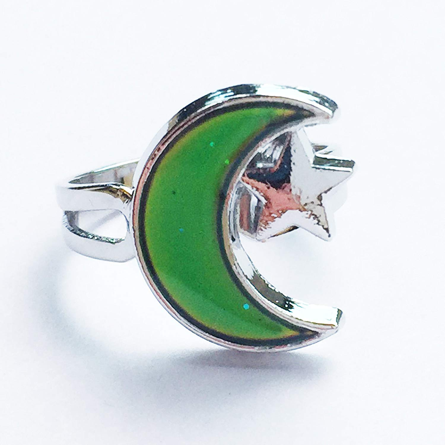 844a5e73 Crescent Moon Mood Ring - Get Instant Emotion Reading & Fun - Great Gift  for Kids