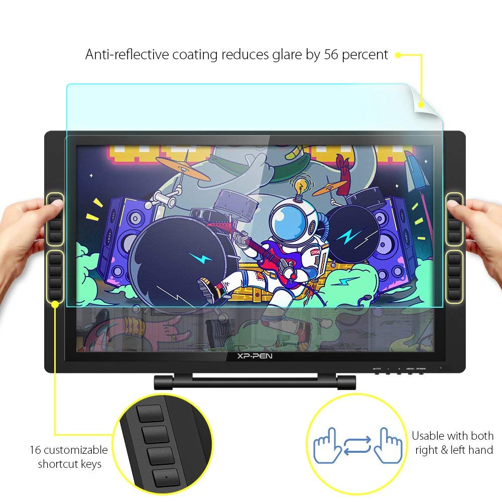 XP-Pen Artist22E Pro 60cm FHD IPS Graphic Pen Display Interactive Drawing  Monitor with Shortcut keys and Adjustable Stand Support Windows Mac