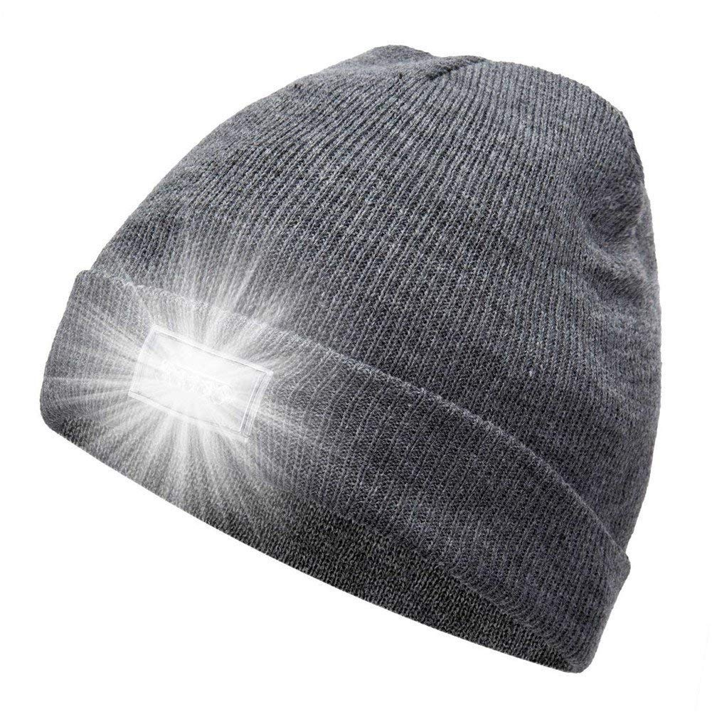 ef4ce2b6 Suboer Running Hat,5 LED Flashlight Keep Warm Light Beanie Hat Cap for  Running,Hunting,Camping