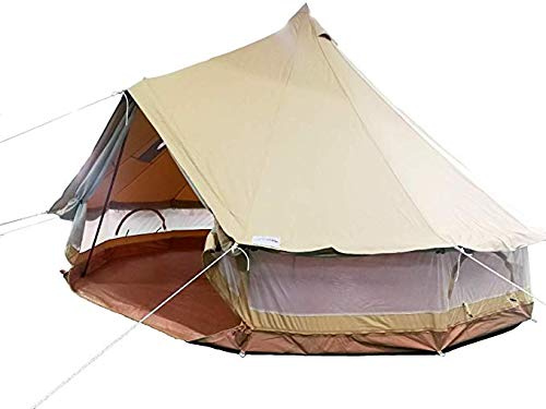 DANCHEL OUTDOOR Cotton Canvas Bell Tent with all Mesh Around with Fireproof  Stove Jacket