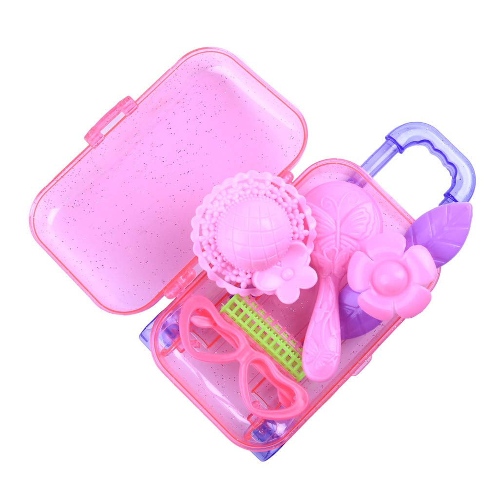 260d00881411 ALIKEEY Educational Toys for Kids, Fashion Accessories Trolley Box Claear  Suitcase Set For Surprise Dolls