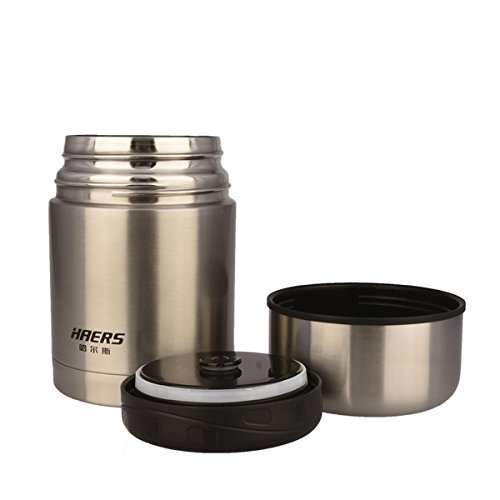 744c57bf18ff Aliciashouse HAERS 600ML Vacuum Food Burning Pot Insulated Food Jar Thermal  Lunchbox Food Container