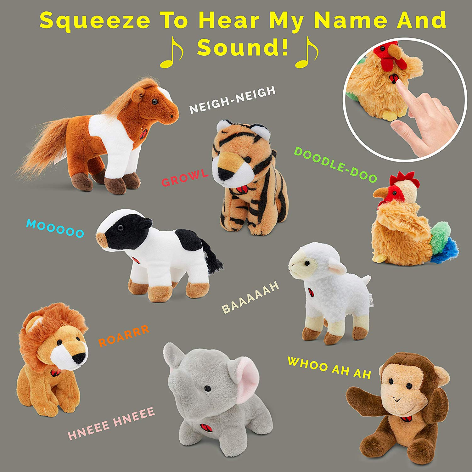 Dog Morbuy Plush Talking Jungle Animals Toy Plays Sounds