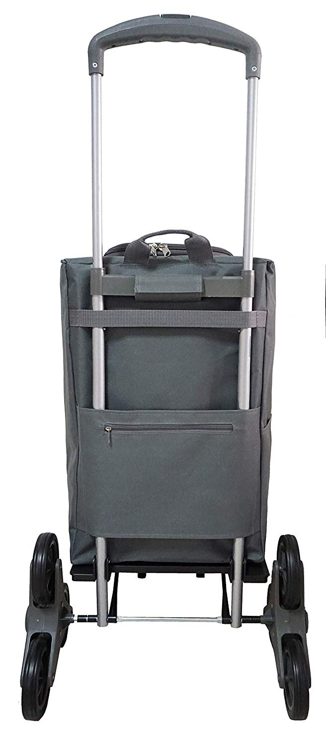 Shopping Trolley 2 Wheels with Telescopic Handle Waterproof Bag 40L with Zipper Brand Bo Time