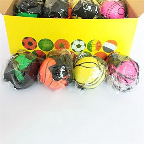 RUBBER BALL WITH ELASTIC STRING /& STRAP 60MM 1 PC ASSORT COLOURS SPORT TOY KIDS