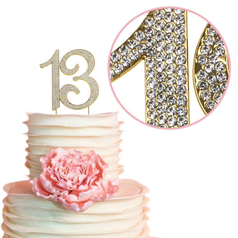 13 GOLD Cake Topper