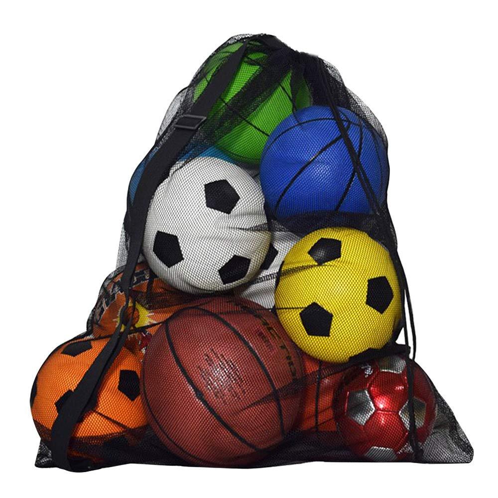 574379c6c5a7 Meliya Extra Large Sports Drawstring Mesh Ball Bag Basketball Volleyball  Soccer Football Carrying Bag Storage Sack