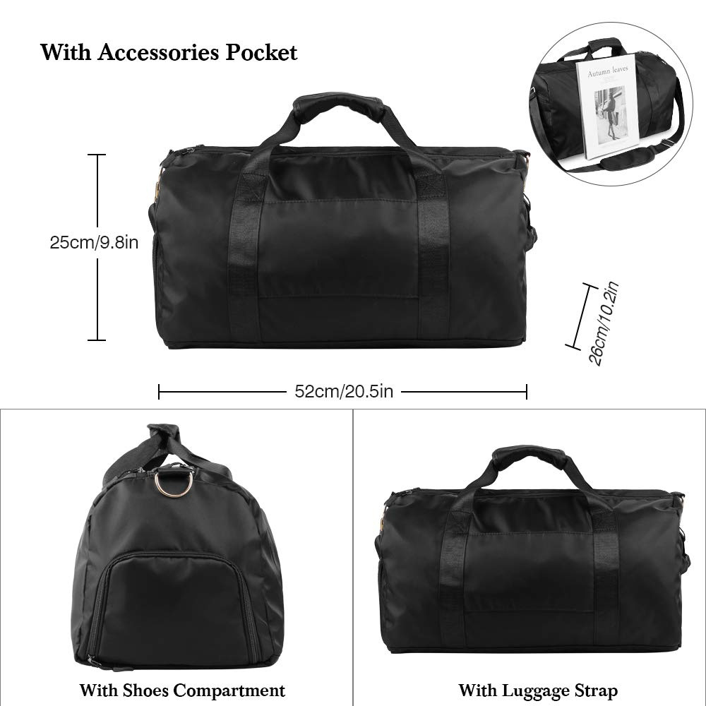 071e38ed2d5d Sports Gym Bag, Travel Duffle Bags with Shoes Compartment Wet Pocket,  Waterproof Large Yoga Bag, Shoulder Carry On Handbag Tote Bag 52x26x25cm  for ...