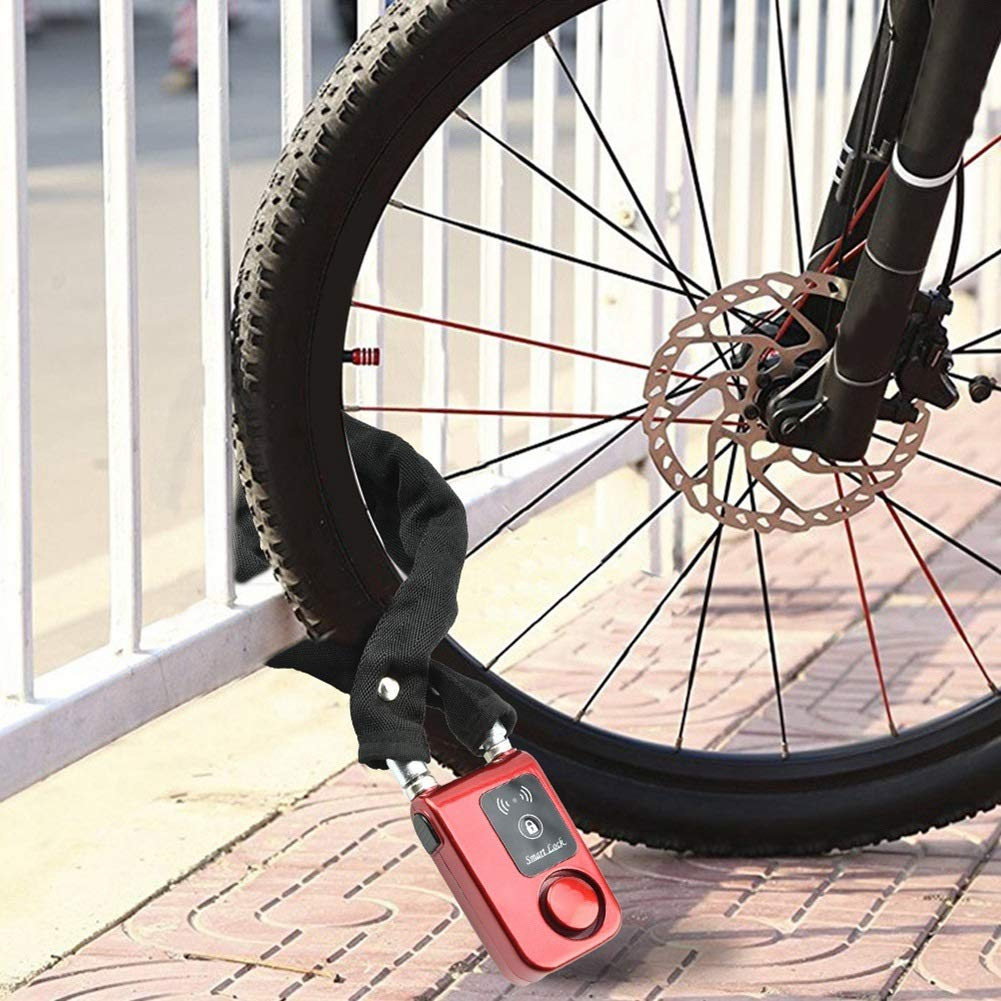Chain With 2 Keys Portable Scooter Safety Cable Anti-Theft Bicycle Lock Cycling