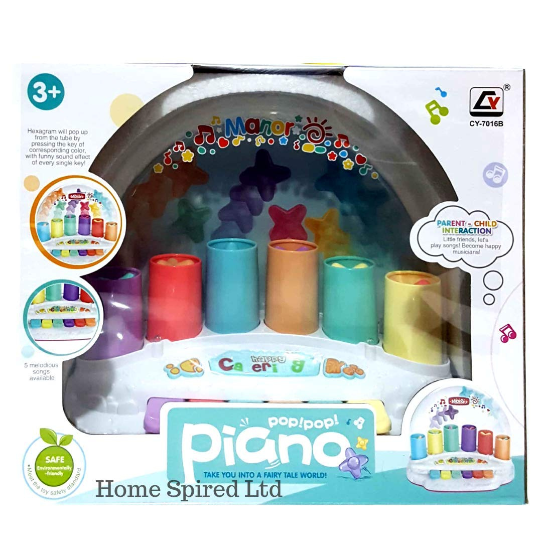 IDREAM TRADER Kids Musical Piano Piano Star Pop Up Interactive Toy  Educational Musical Sound Learning Kids Gift