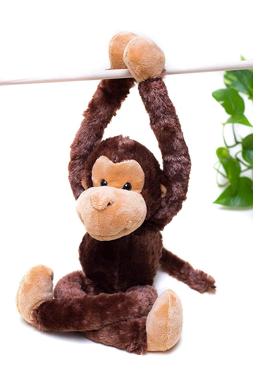 "Hanging Squirrel Monkey w//baby soft plush toy 20/""//50cm Wild Republic NEW"