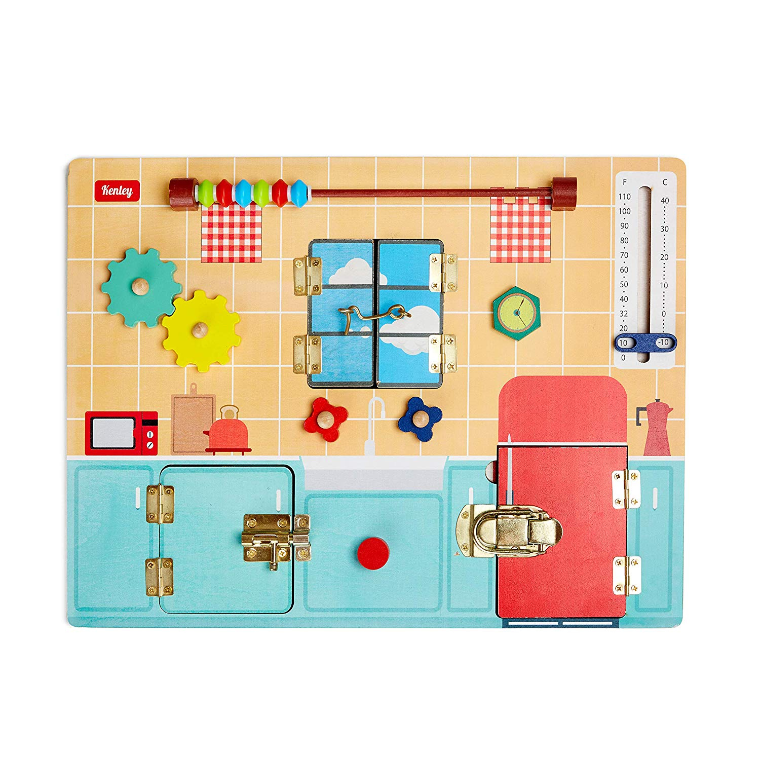 Busy Board For Toddlers Wooden Montessori Activity Board For Fine Motor Skills Educational Learning Toy With Latches Sensory Activities For 1 2