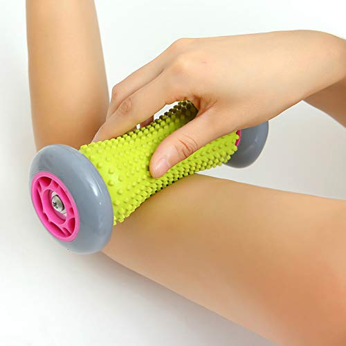 Ergonomic Reflexology Massager for Wrists and Forearms Exercise Roller Massage Roller Muscle Roller Stick Heel Pain etc Recovery Tool for Plantar Fasciitis