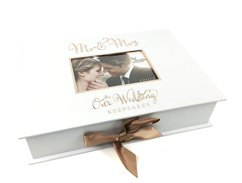 Ukgiftstoreonline Wedding Gift Keepsake Box With Mr And Mrs