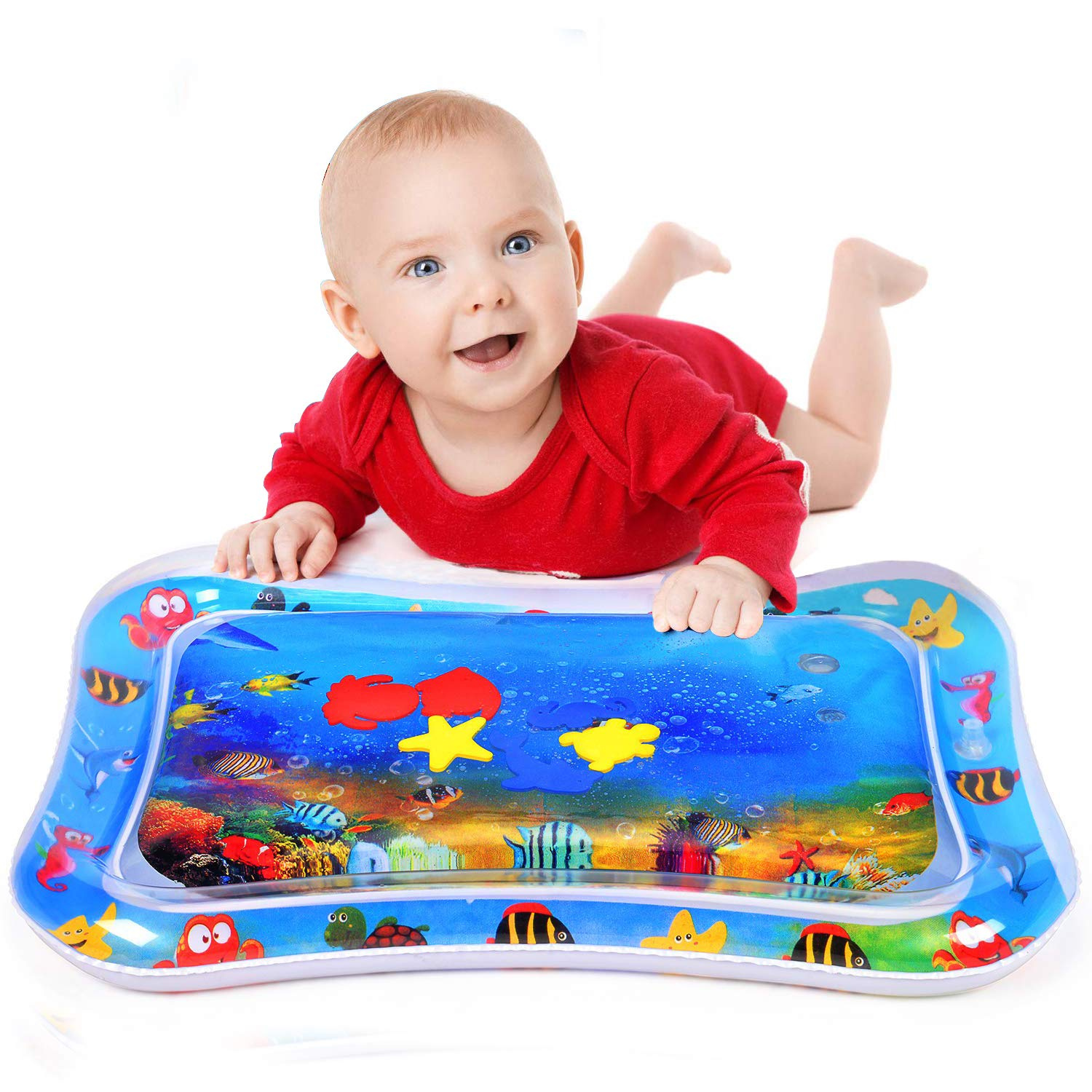 Inflatable Tummy Time Water Play Mat Toys for Infants Toddlers Babies Great Fun