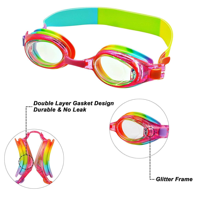 Prettyia Kid Swimming Goggles Children Anti Fog UV Protection Swim Glasses
