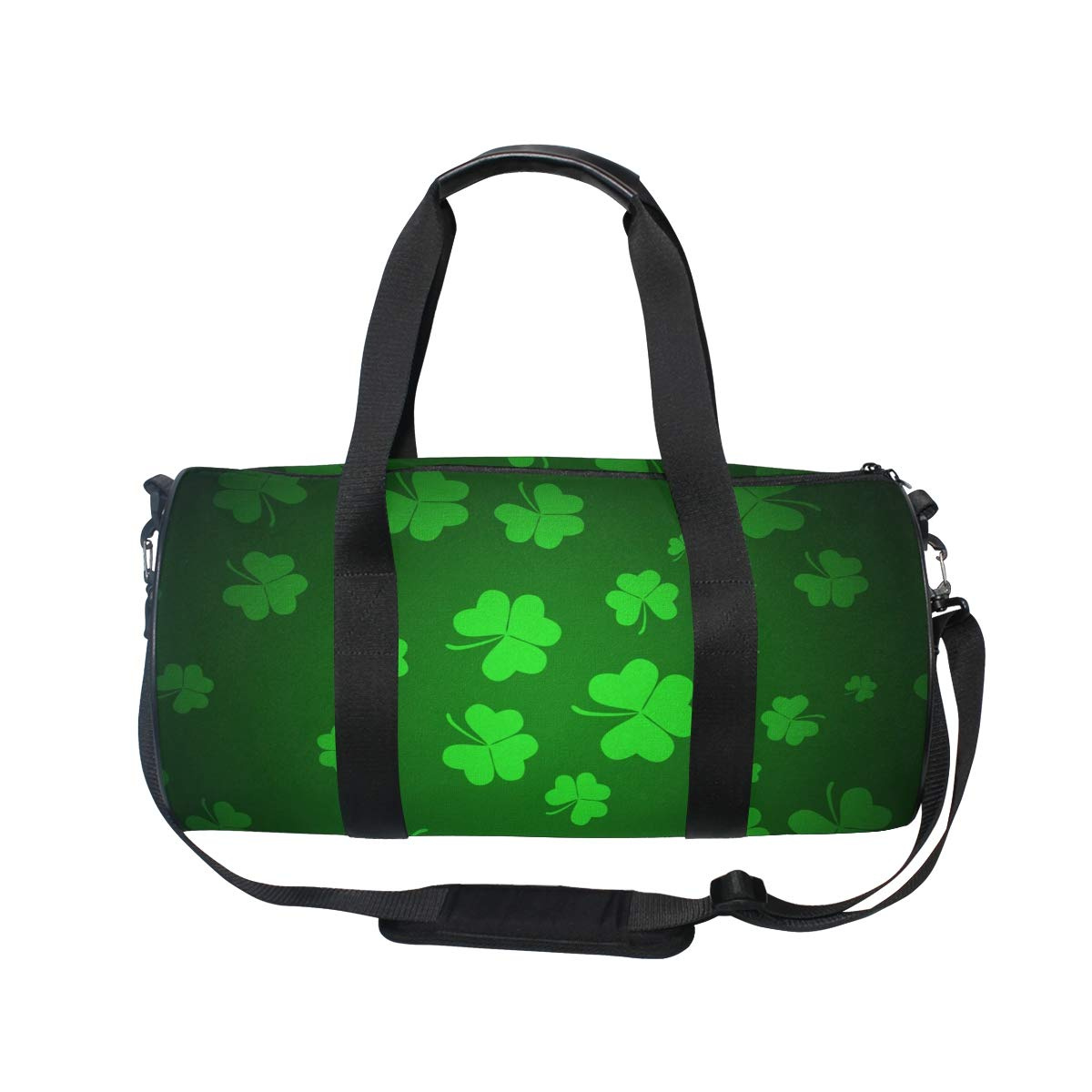 b8e18d862ab5 OuLian Sports Bag Four Leaf Lucky Clover Mens Duffle Luggage Travel Bags  Womens Lightweight Gym Bag